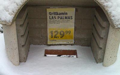 Grillen in Las Palmas im Schnee 8-)