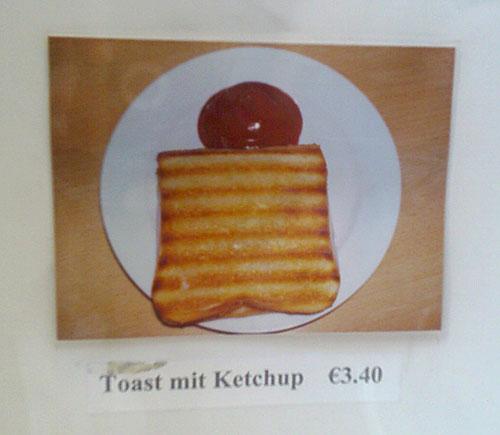 Toast-mit-Ketchup