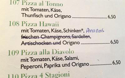Seit wann ist auf Pizza Hawaii Ananas?