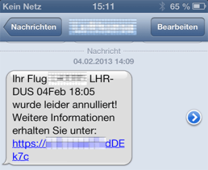 SMS-Flugzeug-Telefon-sauer