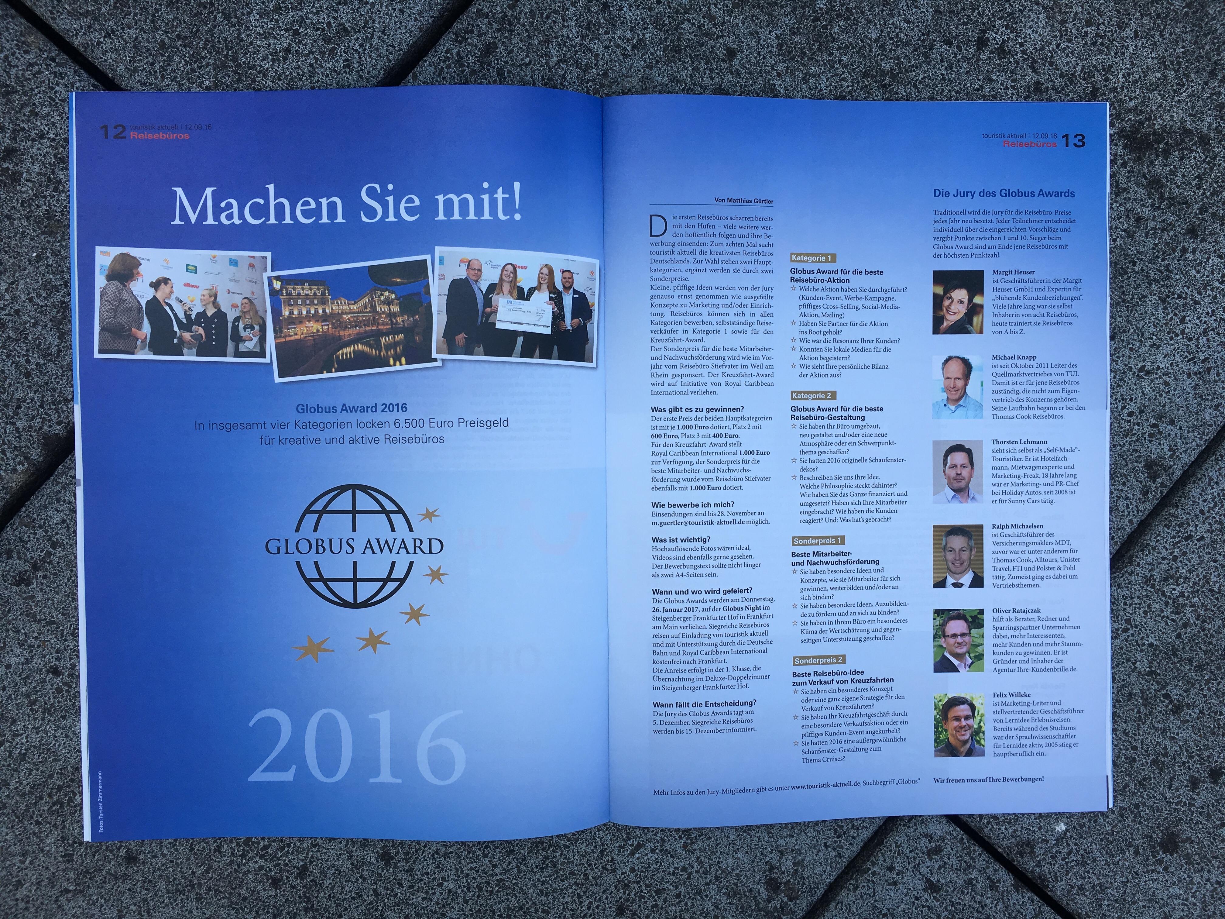 Globus Award 2016 Jury