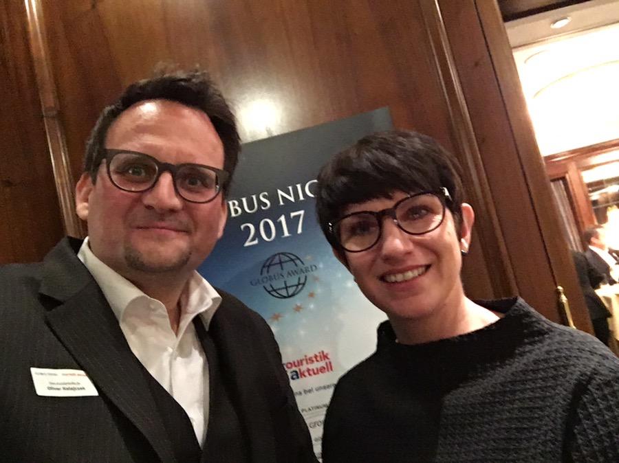 Oliver Ratajczak und Sabine Ruthenfranz beim GLOBUS Award