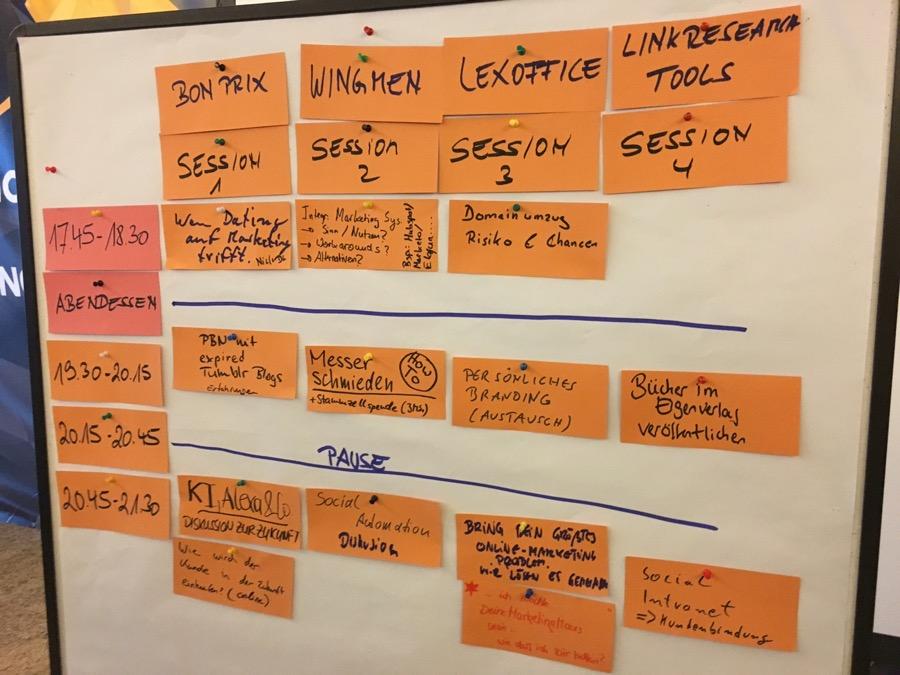 Sessionplanung des CAMPIXX-Barcamps