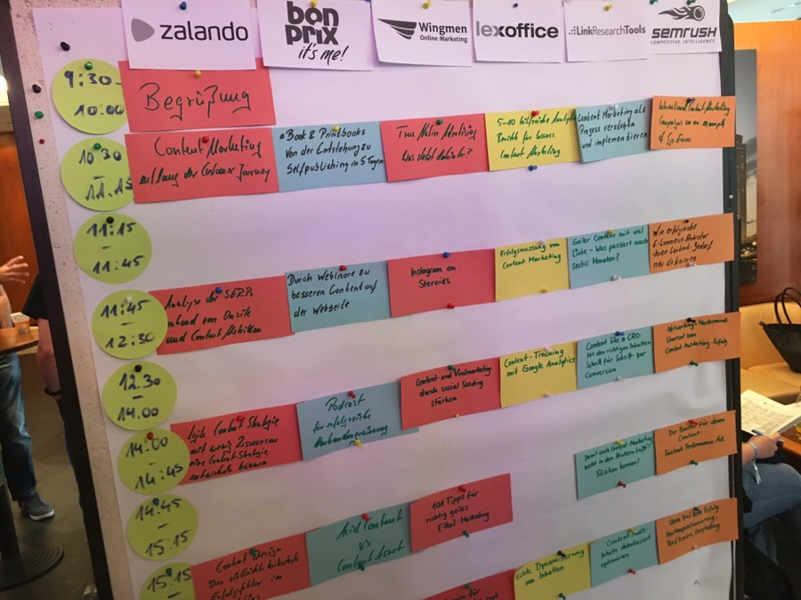 Session-Plan der CONTENTIXX 2017