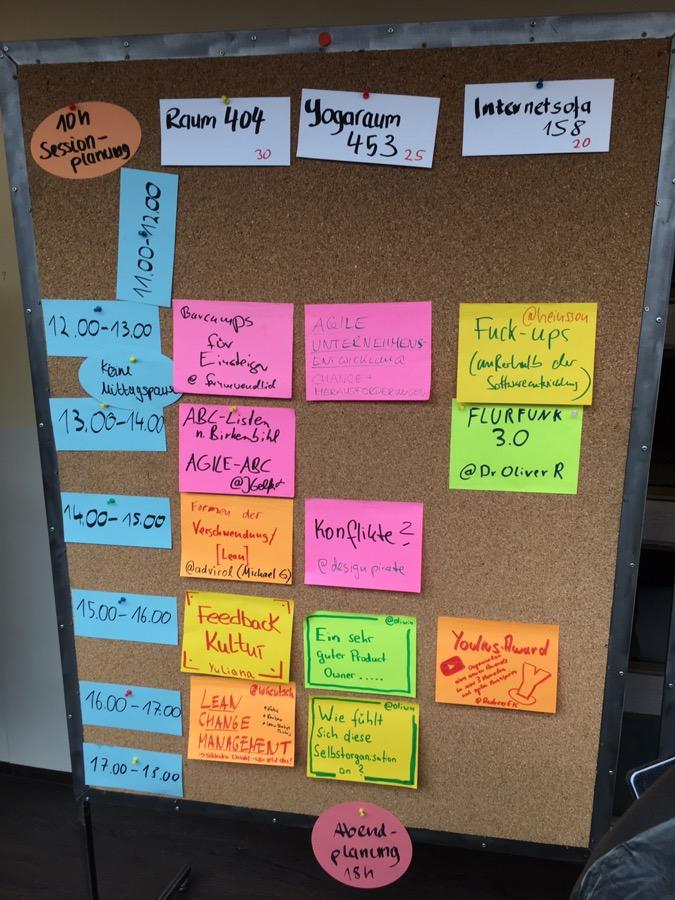 Sessionplanung #arc17 (Teil 1)