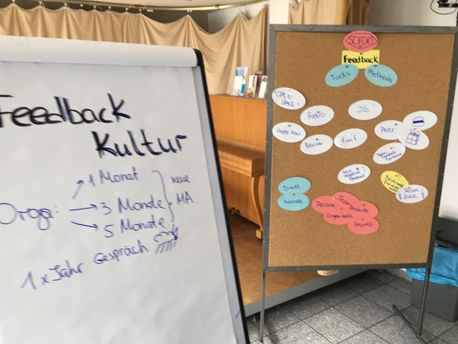 Sessionboard zum Thema Feedbackkultur