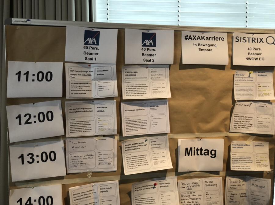 Die Sessionplanung beim #OMWest