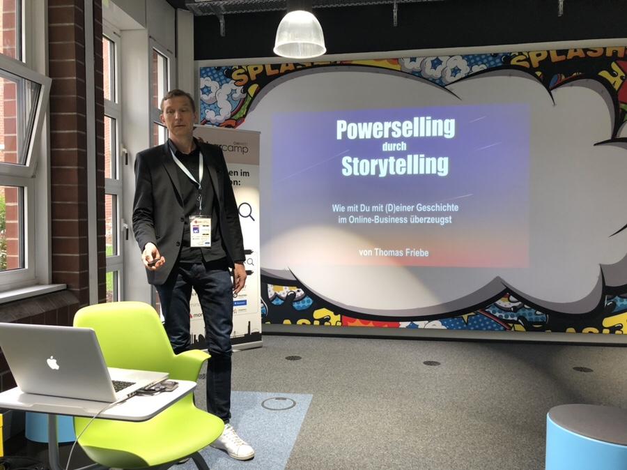 Powerselling durch Storytelling von und mit Thomas Friebe