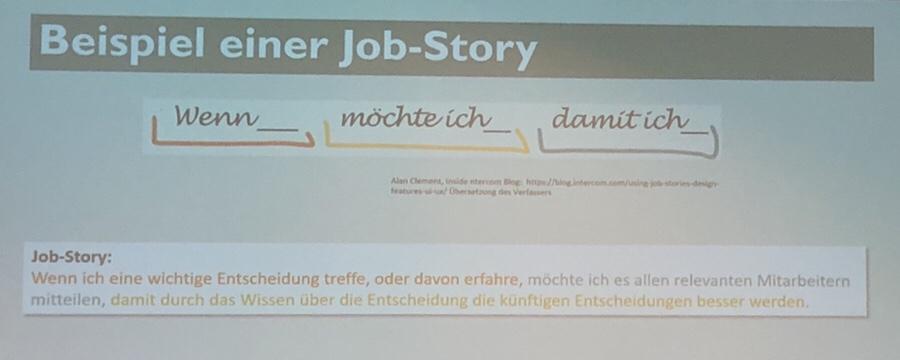 Beispiel einer Job-Story