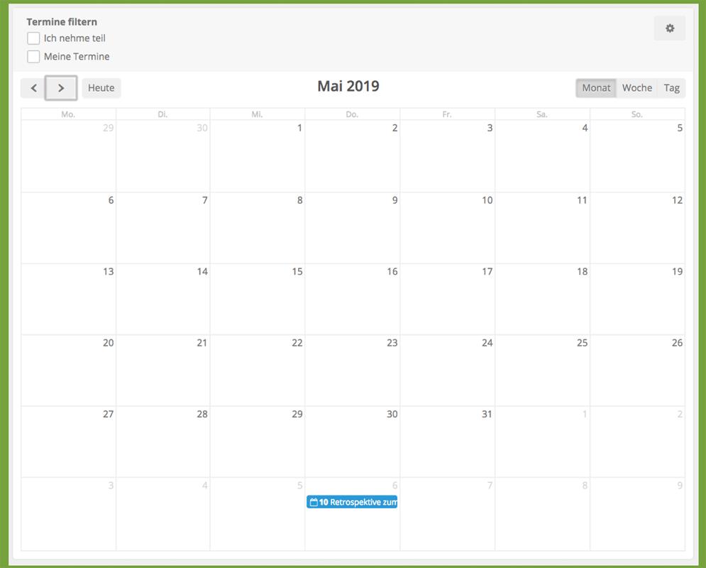 HumHub-Funktion: Kalender