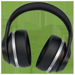 Kopfhörer für den Projektpodcast