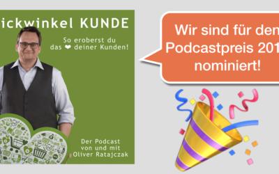 Blickwinkel KUNDE für Podcastpreis 2019 nominiert!