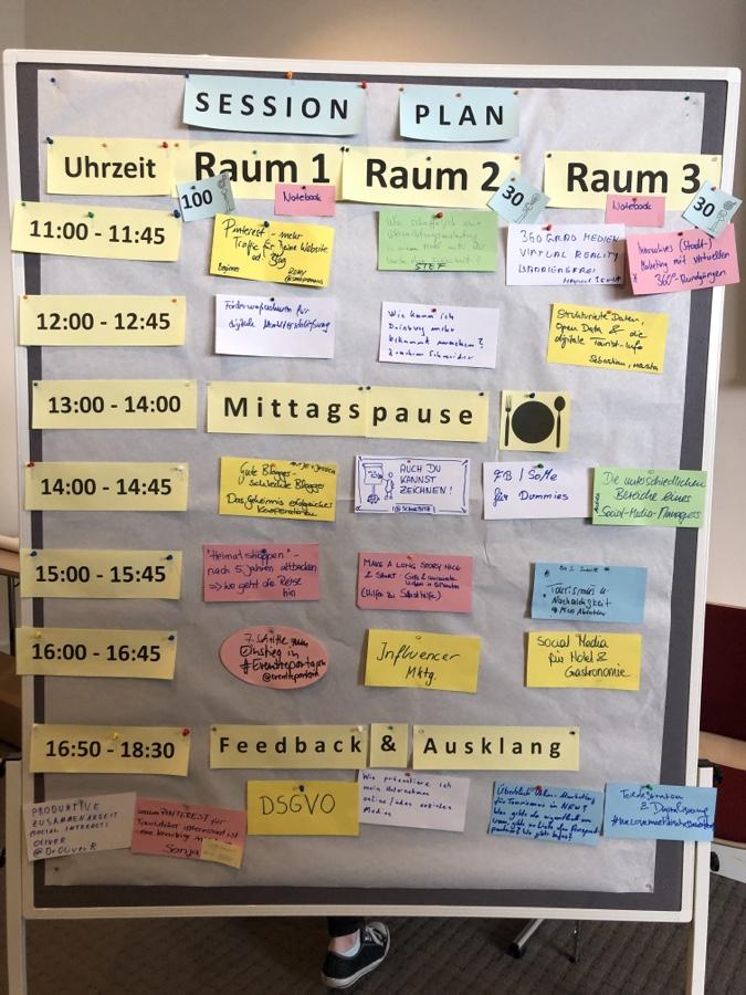 Sessionplanung von #tcniederrhein