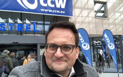 Heute bei der CCW in Berlin