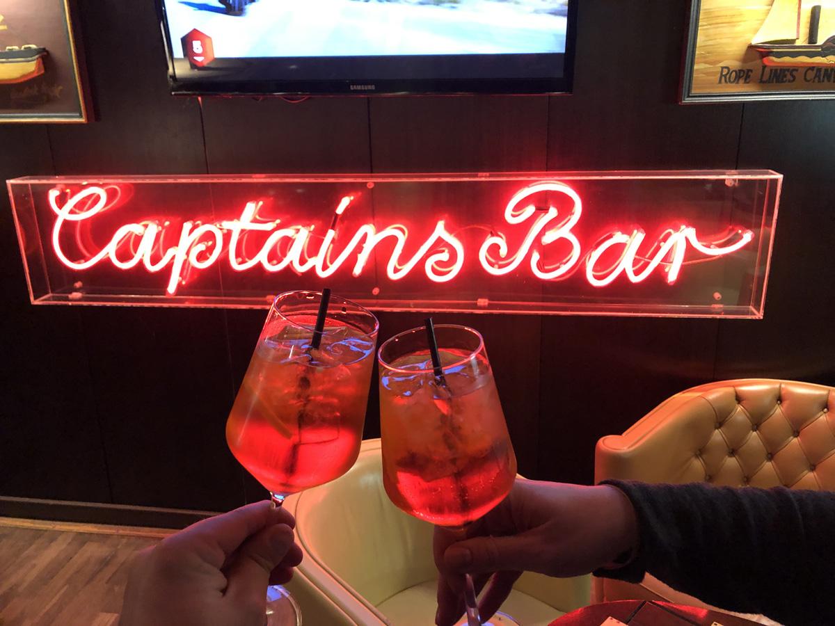 Ausklang in der Captains Bar bei der SEO-Campixx