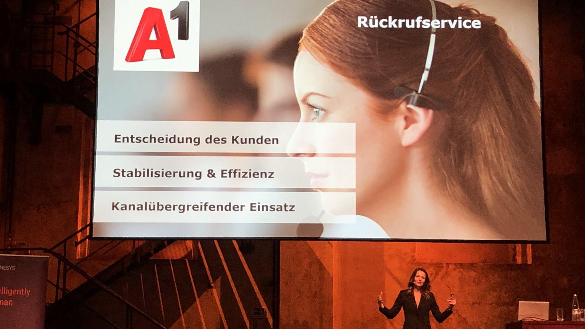 Elke Schaffer (Director Customer Service & Sales von A1) über den Rückrufservice