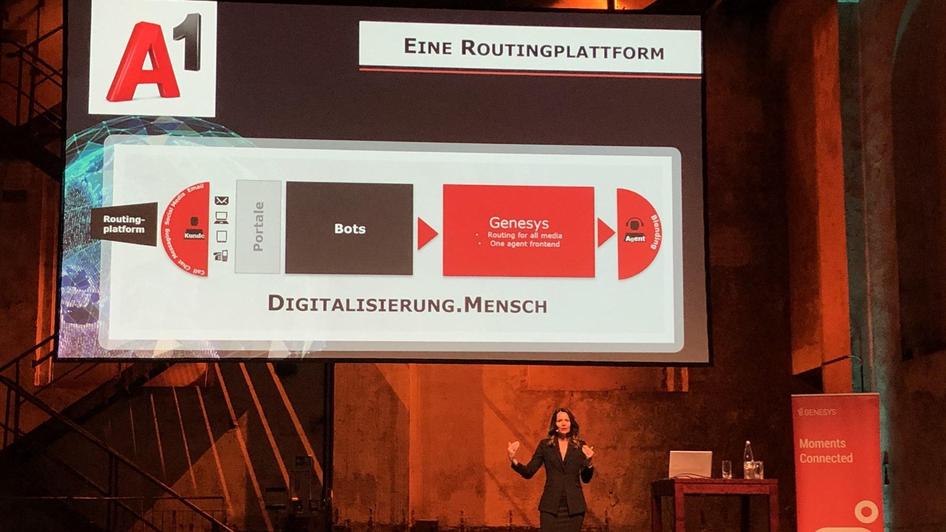 Elke Schaffer (Director Customer Service & Sales von A1) über ihre Routingplattform